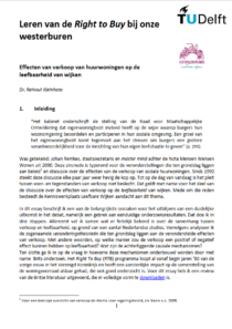 Leren van de Right to Buy
